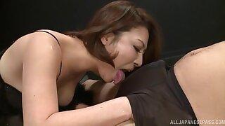 Beautiful Japanese woman Shinobu Igarashi gets the bone