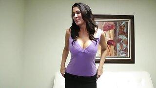 Big-boobied brunette gives a handjob everywhere be hired as a secretary