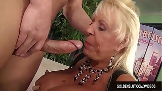 Busty Grandma Mandi McGraw Sucks a Cock and Gear up Rides It with Enthusiasm