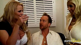 MILF Kelly Madison Shares Her Hubby With Big-busted Nordic Babe Puma Swede!