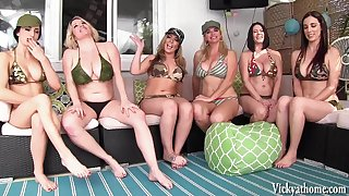 Vicky Vette's Neighborhood Orgy! 6 Girls!