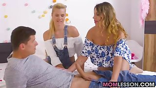 The sexy MILF Angel Rivas offers to show Izzy how its done