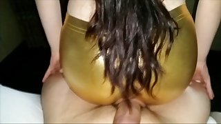 Craigslist immature in gold spandex leggings fucked 17