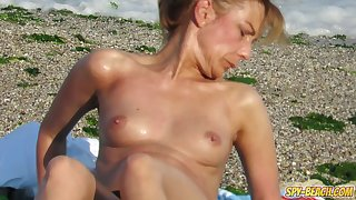 Amateur Voyeur Sexy MILFs - Spy Beach Big Boobs Topless