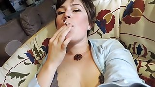 Hd 27 Minutes Of Milkymama Fantasy Smoke Filled Mouth Lingerie