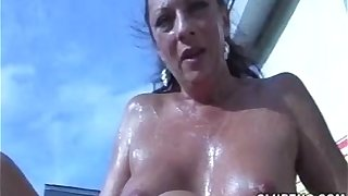 Naked Mature Lady Handjob