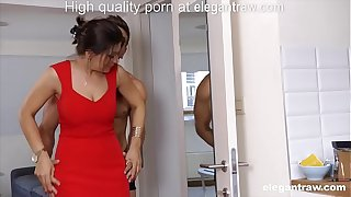 Cheating brunette MILF is fucked in the morning by her lover