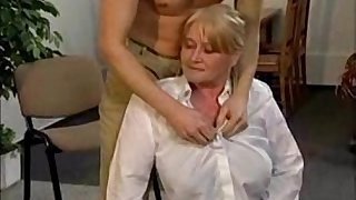 Granny with Big Soft Tits get Fingered and Fucked