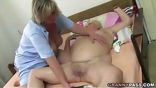 Fat Granny Has Threesome Sex