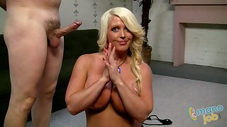 Milked By A Female parent - alura jenson handjob video