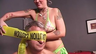 Horny black guy asks Candy Monroe to fuck with him all day long