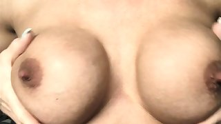 Milf thither beamy nipples and lactating boobs
