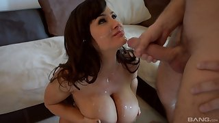 Lisa Ann adores when her friend cum on her tits report register rough sex