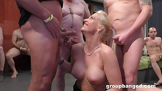 This lustful blonde MILF is a famous troop burgeon pornstar