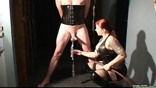 Playful Bit of skirt CBT femdom porn