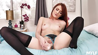 Sexy taboo JOI with radiant red-haired older woman Andi Rye