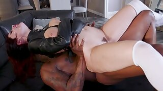 Sensual women try the black monster in a unquestionable fetish play