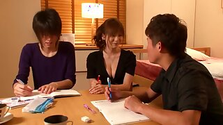 Yuma asami are tempted to h cup omnibus teacher