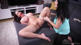 Dixie is a big titted woman who likes to have deviant lesbian sessions once in a while