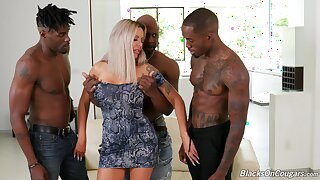 First time bonking in the ass with three black hunks