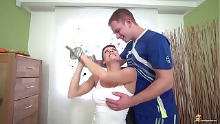 sporty mom brutal fucked by her stepson