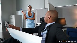 Monumental moonless cock for this elegant office babe