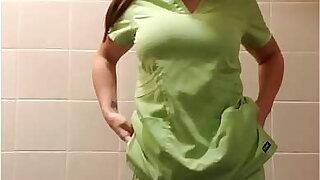 Cumming in my scrubs 2