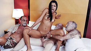 BLUE PILL MEN - Old Men Have Themselves A Staycation With Latin Spoil Nikki Kay