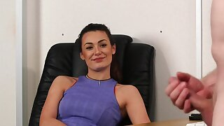 Amateur office babe allows herself a nasty cheating session