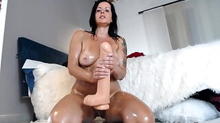 Bareback anal sex with flaming brunettes with fat Bristols