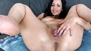 Bareback anal sexual intercourse with flaming brunettes with big boobs