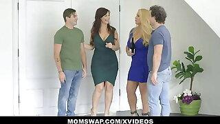 Libidinous Curvy Stepmoms Karen Fisher And Syren De Mer Teach StepSons About Sex